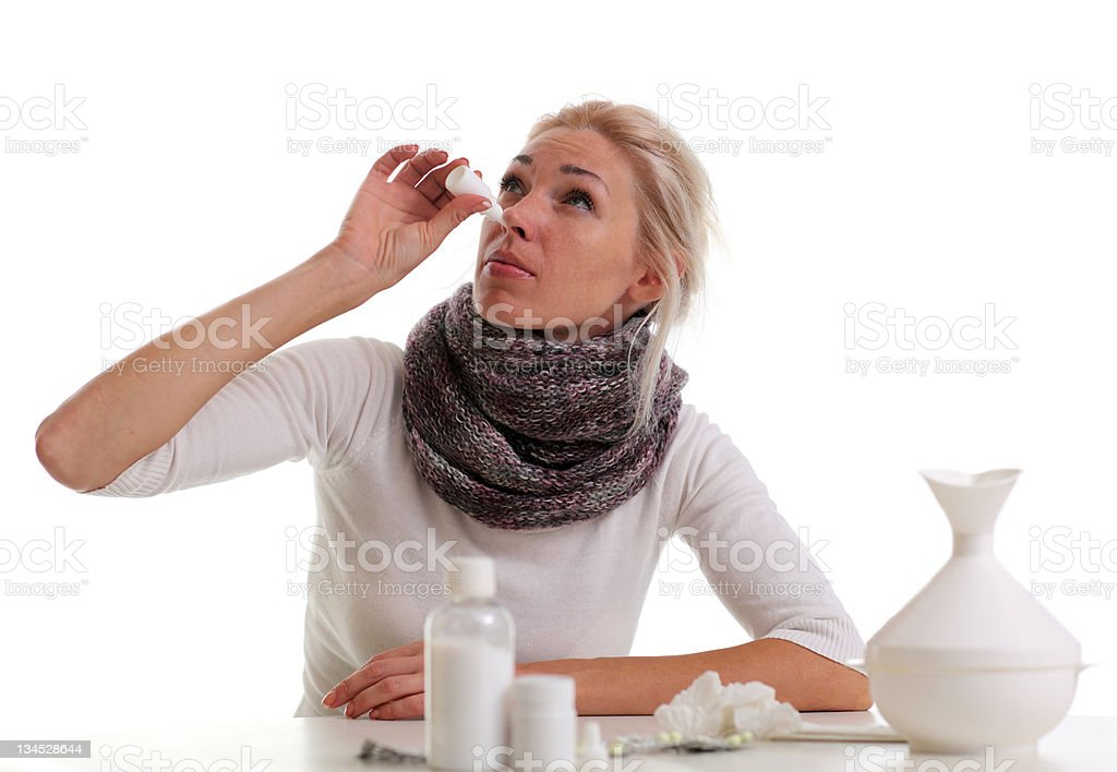 Sick young woman royalty-free stock photo