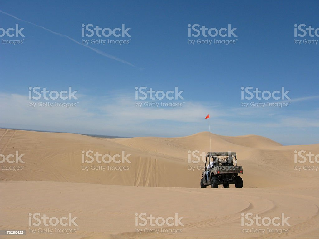 Side by Side Off-Roading in The Glamis Sand Dunes stock photo