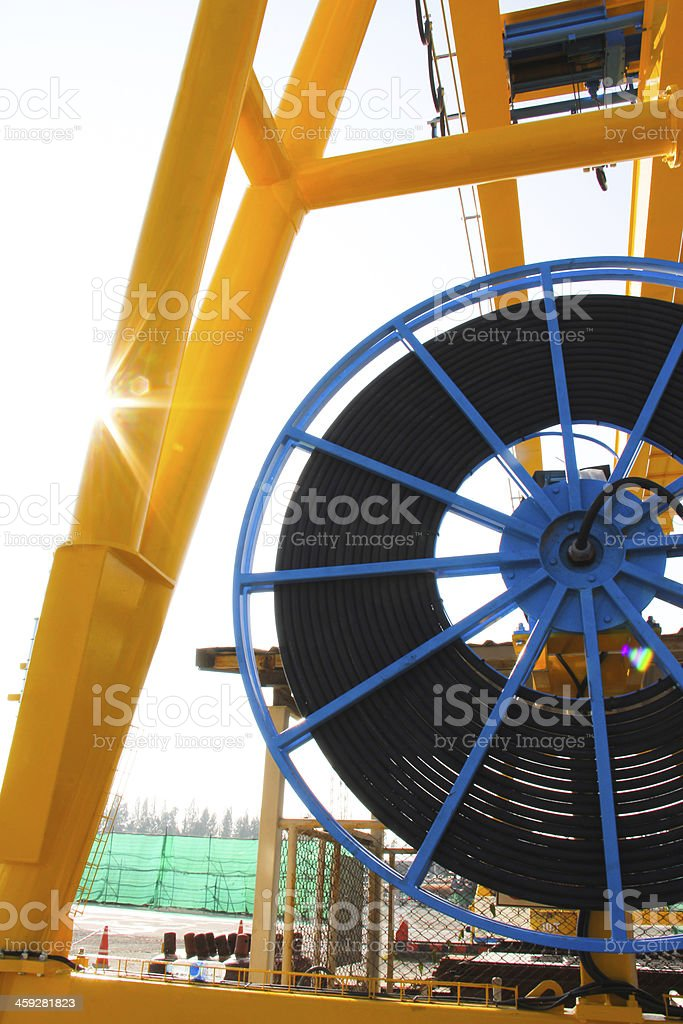 side cable reel stock photo
