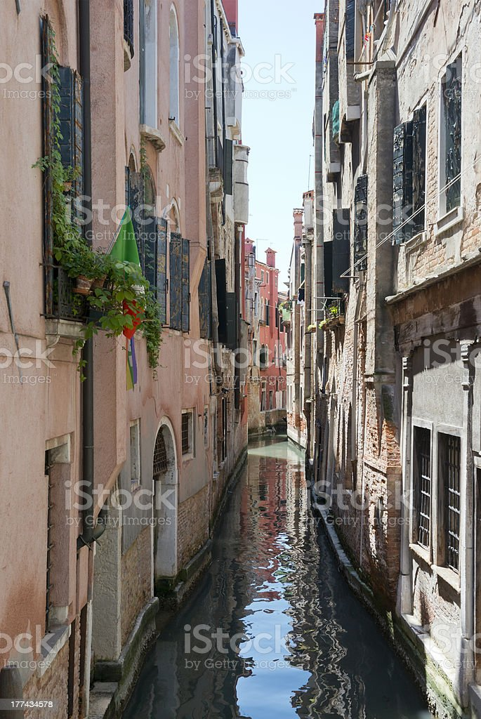 Side Canal in Venice royalty-free stock photo