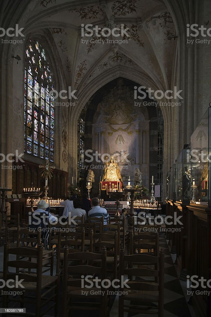 Side chapel of the Our Lady's Cathedral in Antwerp royalty-free stock photo