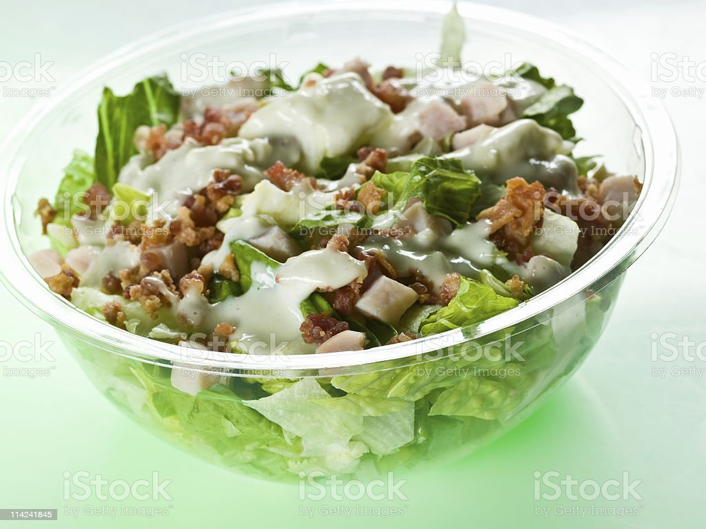 Side Cobb Salad stock photo