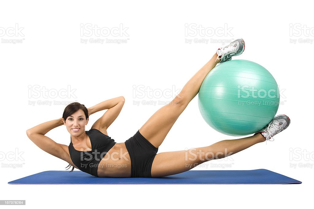 Side Crunches royalty-free stock photo