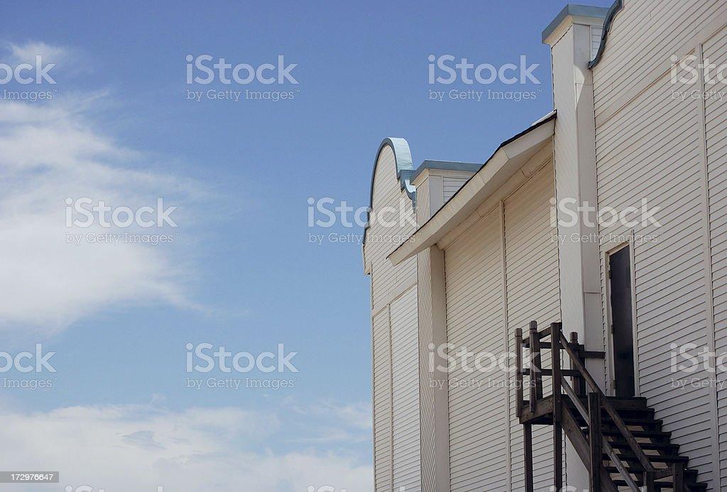 Side door & stairs royalty-free stock photo