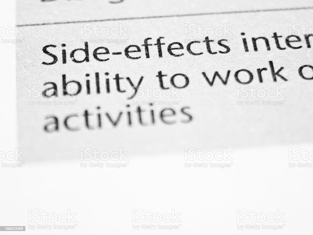 Side effects stock photo