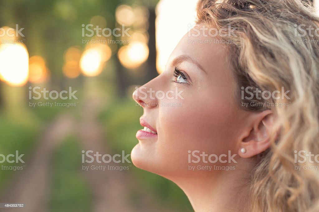 Side Face Of A Beautiful Blonde stock photo