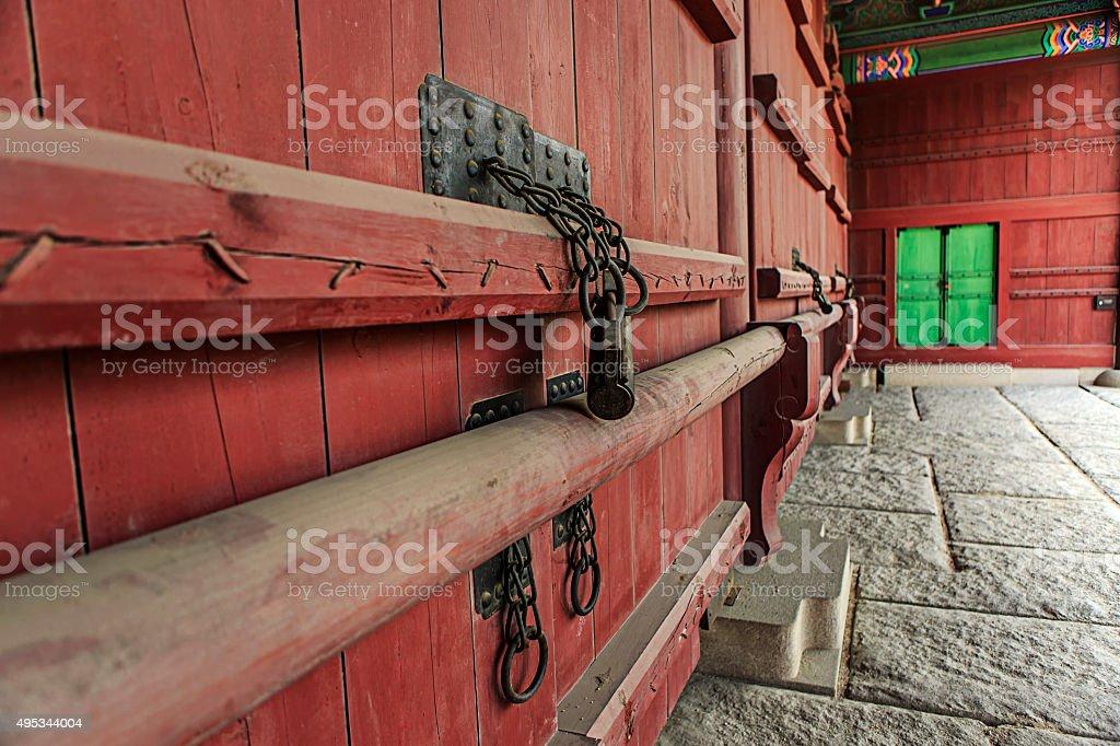 Side gate of Gyeongbok Palace stock photo
