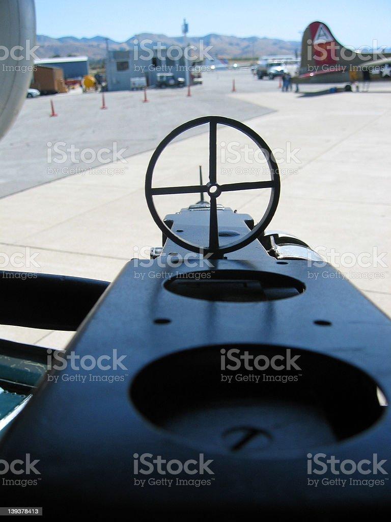 B-24 Side Gun royalty-free stock photo