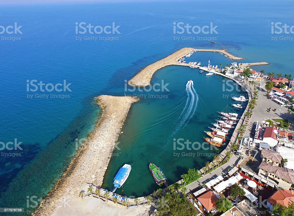 Side Harbour, Antalya, Turkey stock photo
