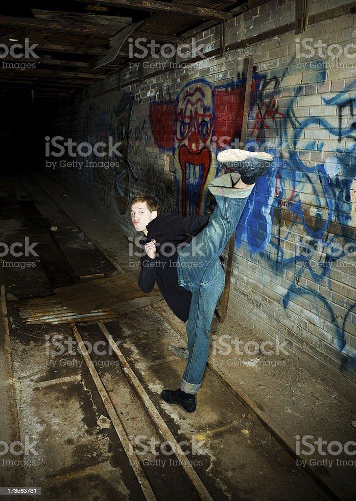 Side kick stock photo