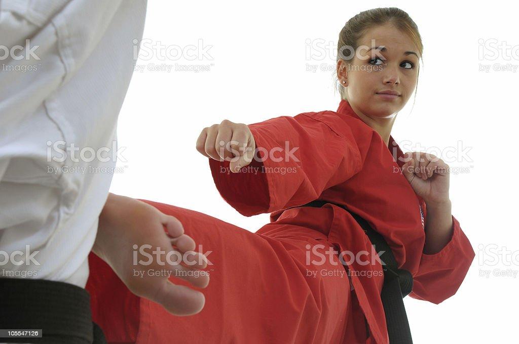 Side kick targeting royalty-free stock photo