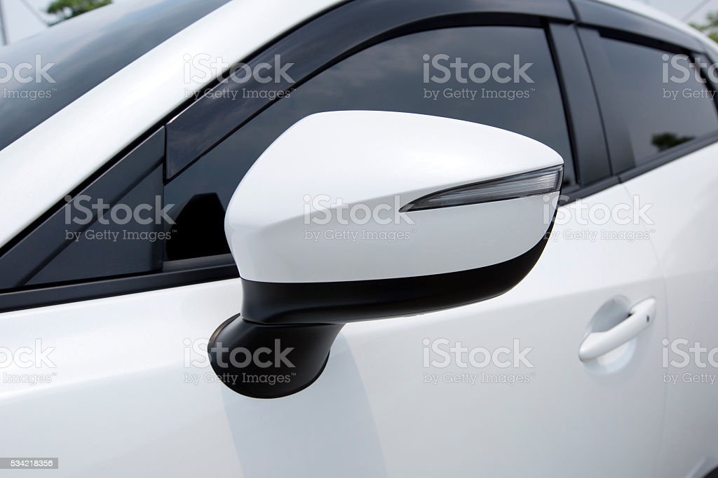 side mirror of a modern car stock photo
