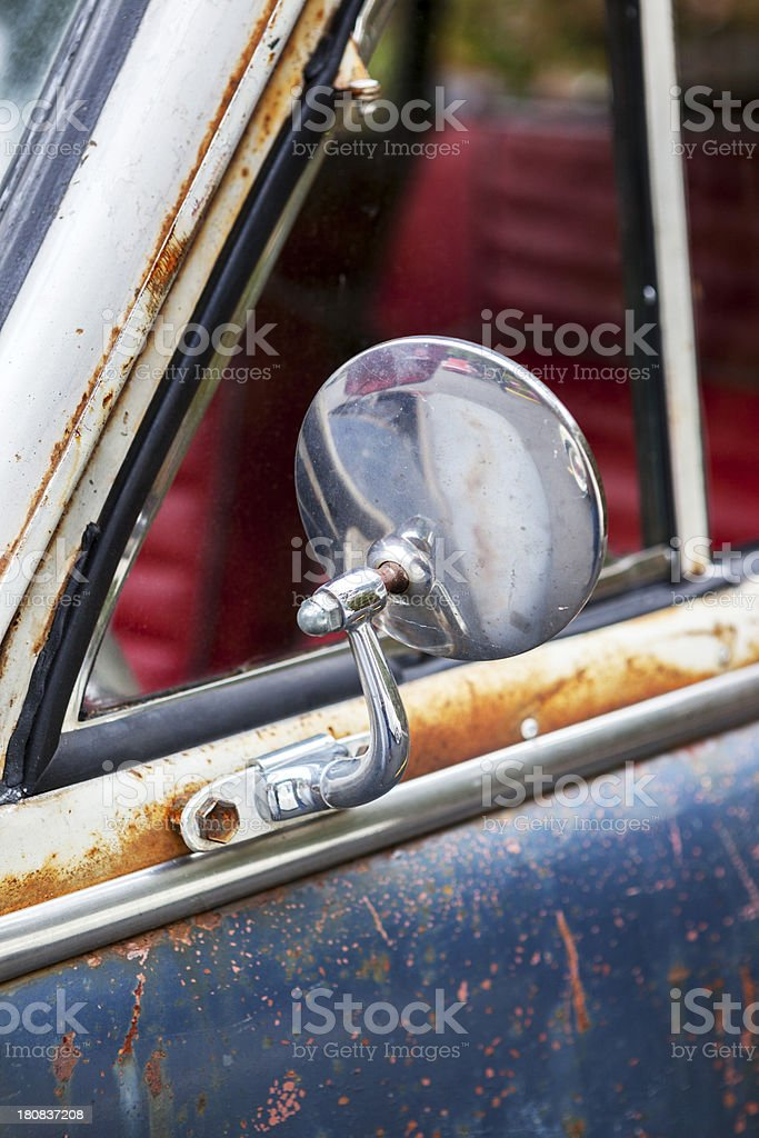 Side Mirror Old Car royalty-free stock photo