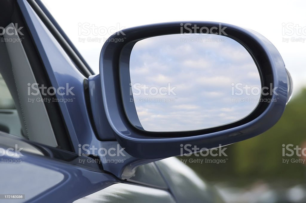 Side Mirror (w/ clipping path) stock photo