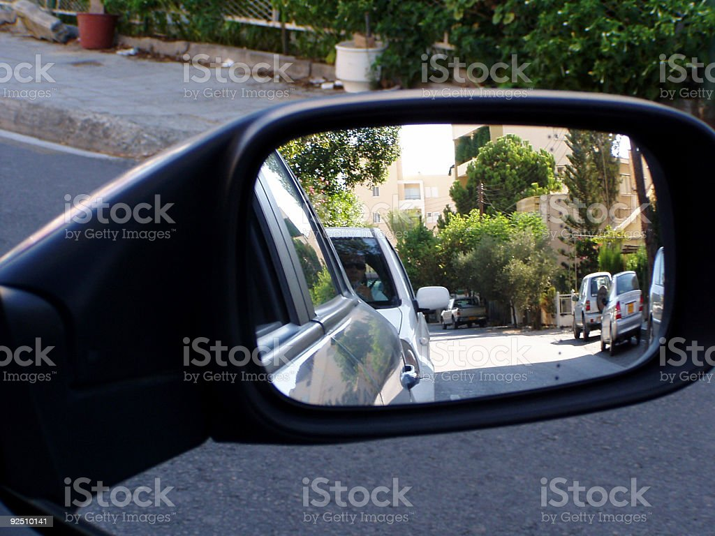 Side mirror stock photo