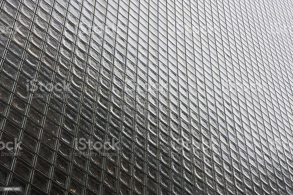 Side of a glass building royalty-free stock photo
