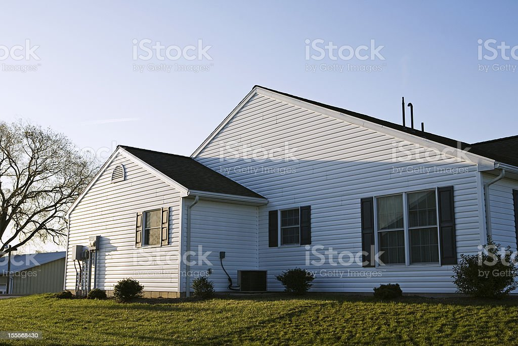 Side of a white house stock photo
