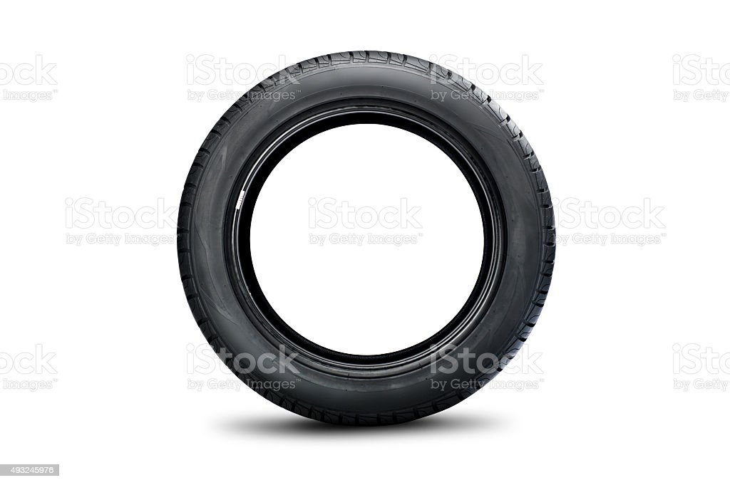 Side of car tire stock photo