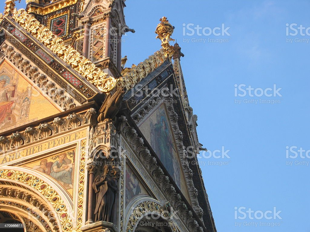 Side of Church roof royalty-free stock photo
