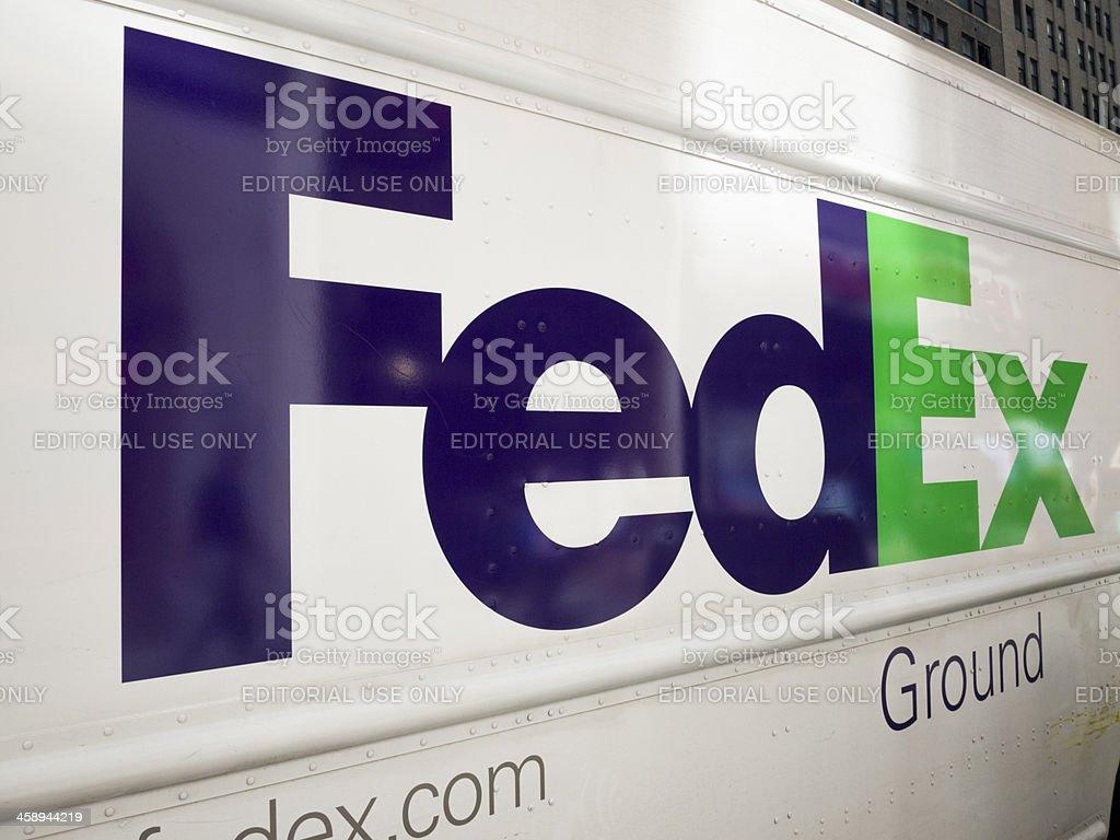 Side of Fedex Ground Truck stock photo