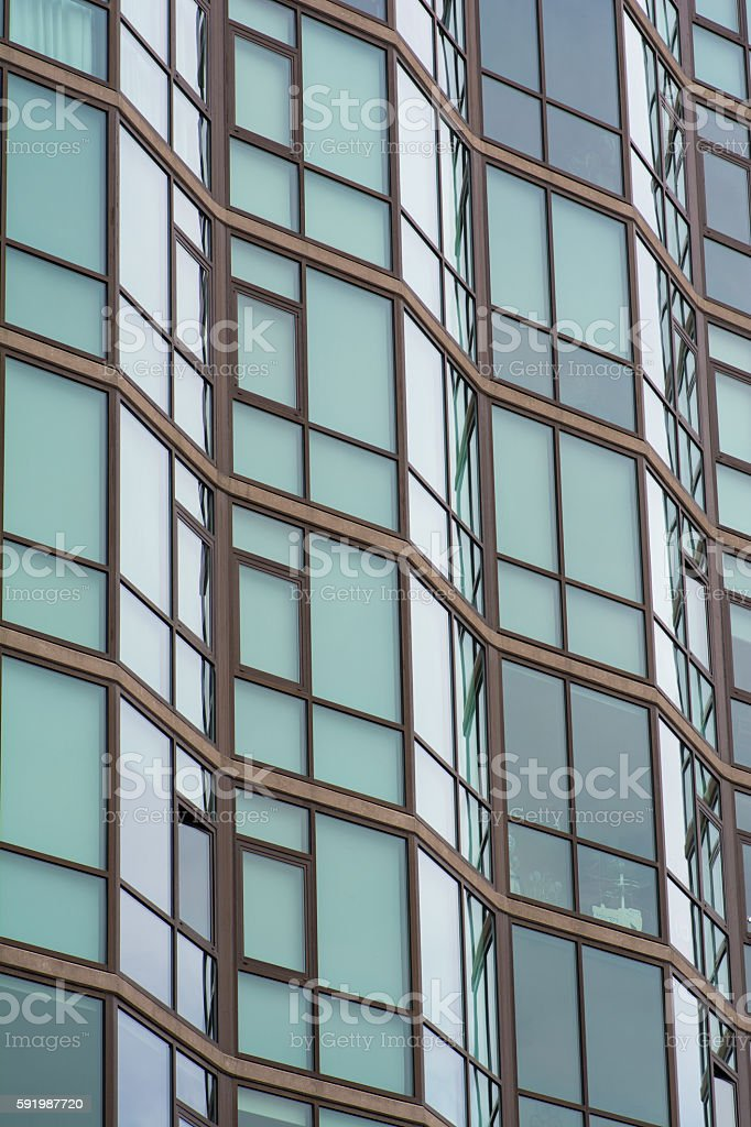 Side of Glass Building stock photo