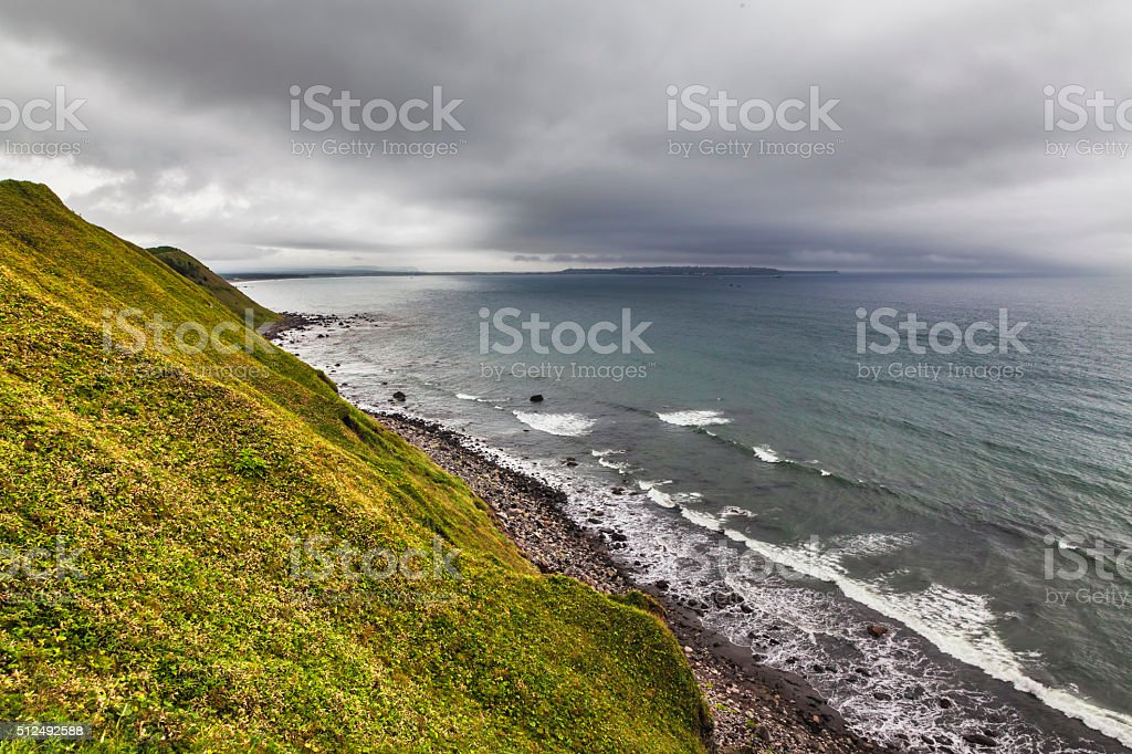 Side of Pacific ocean stock photo
