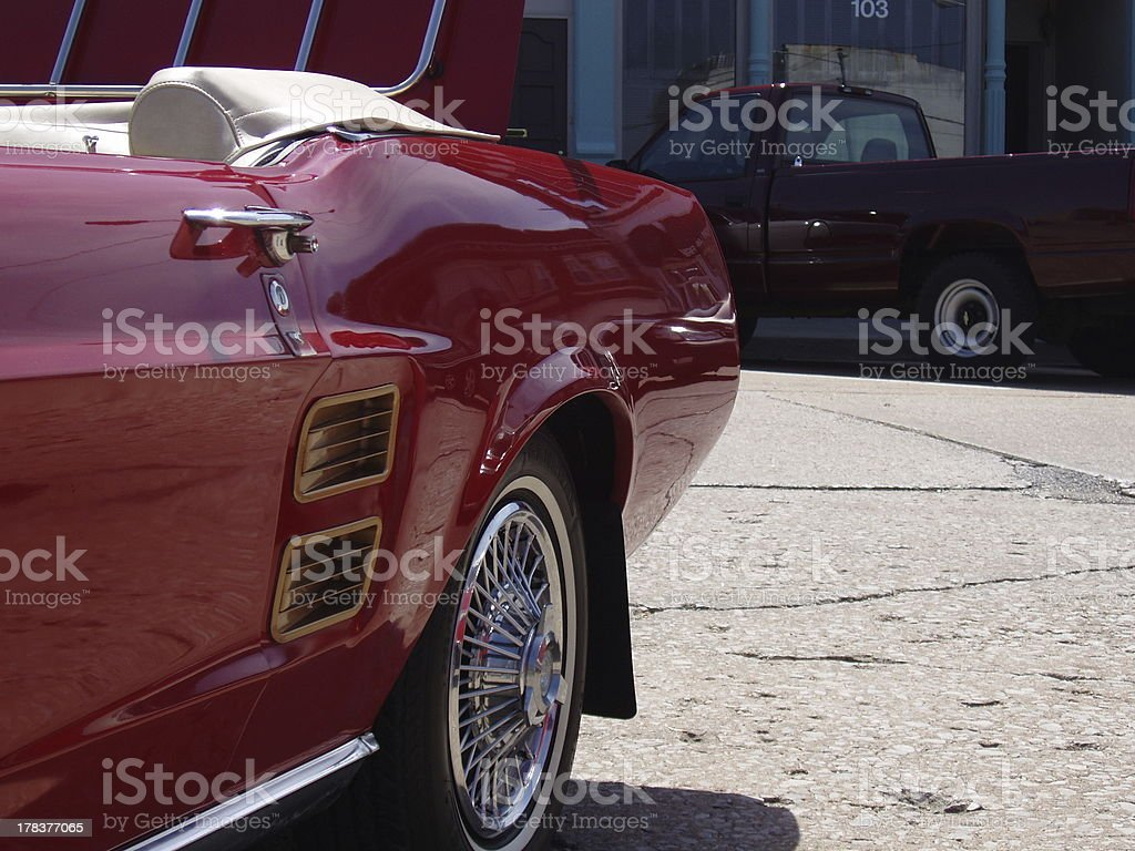 Side of Red Car royalty-free stock photo