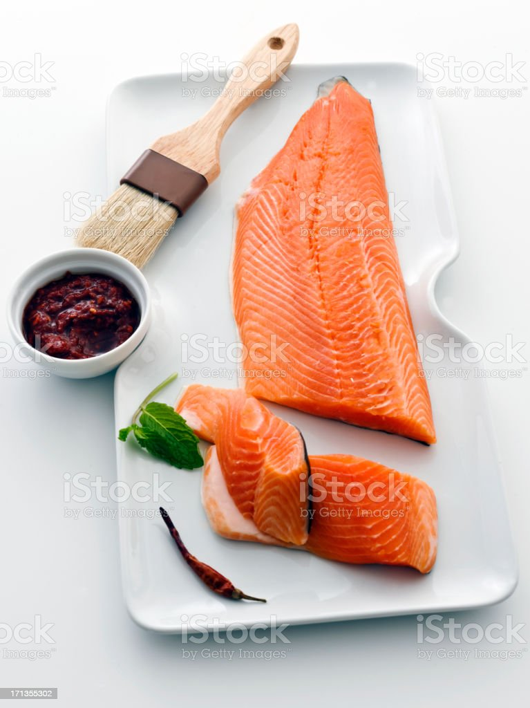 side of salmon stock photo