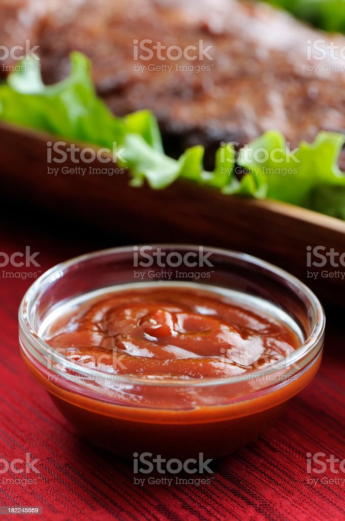 Side of sauce barbecue stock photo