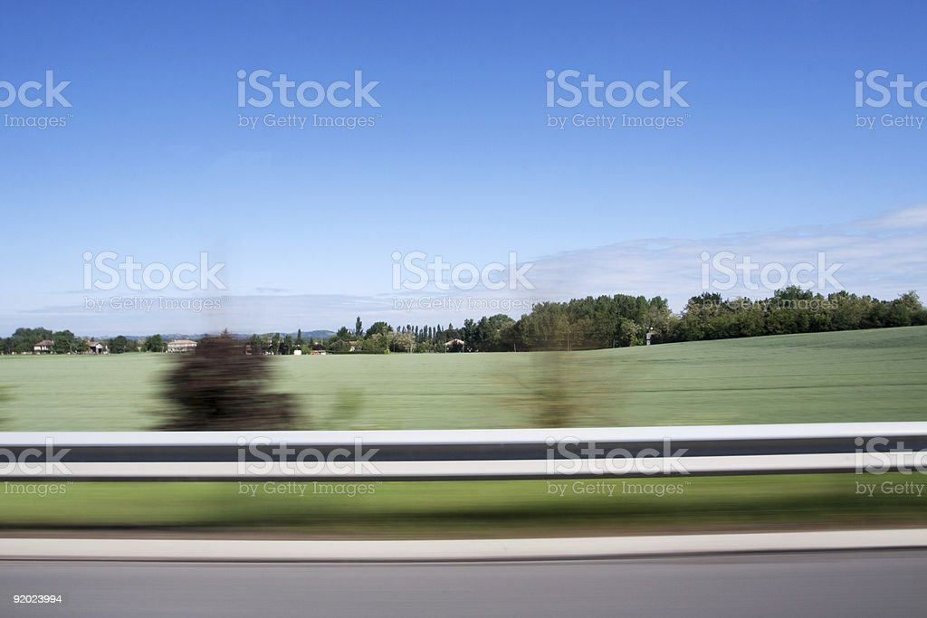 side of the freeway royalty-free stock photo
