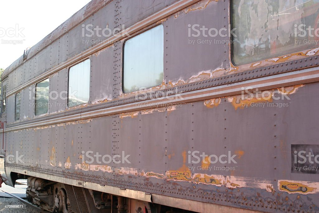 Side of Train stock photo