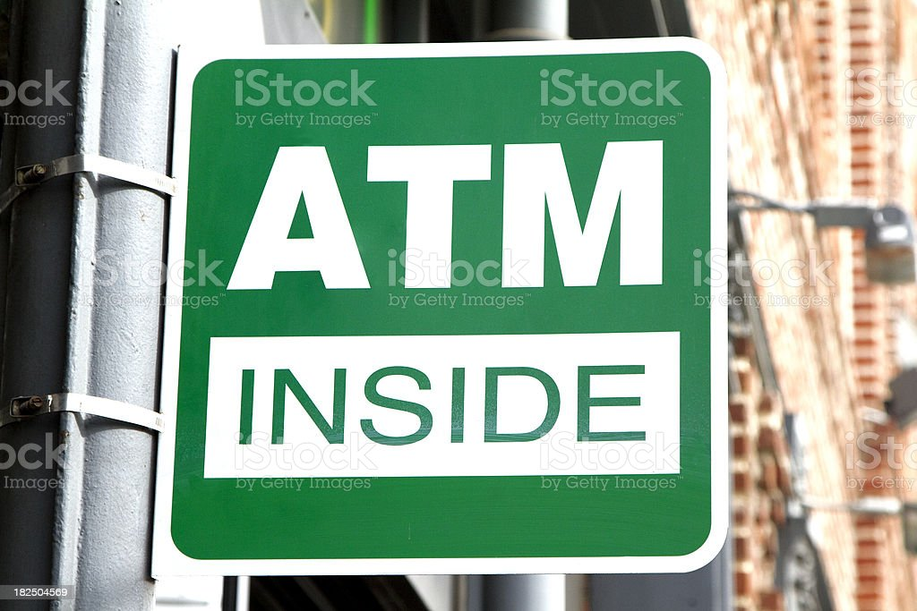 ATM side royalty-free stock photo