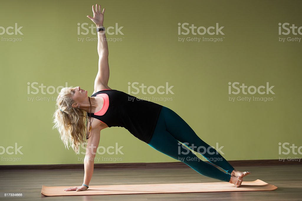 Side Plank Pose stock photo