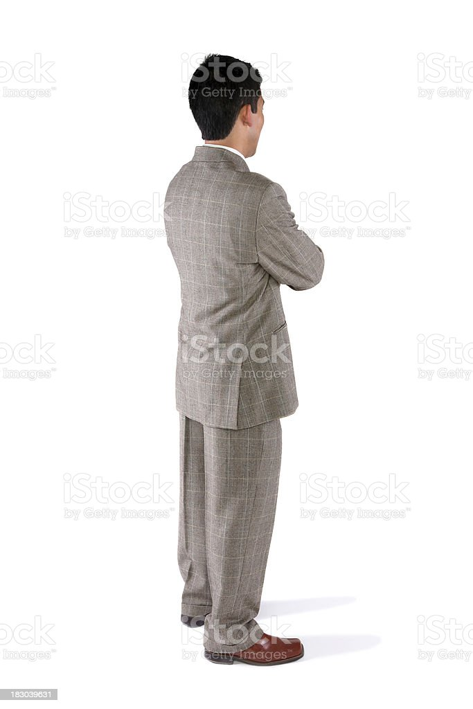 Side profile of a businessman standing royalty-free stock photo