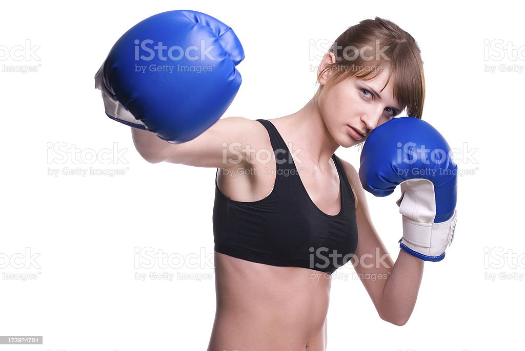 Side punch royalty-free stock photo