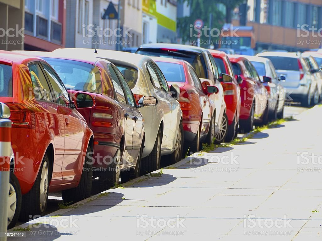 Side Road Parking in Stuttgart,Germany royalty-free stock photo