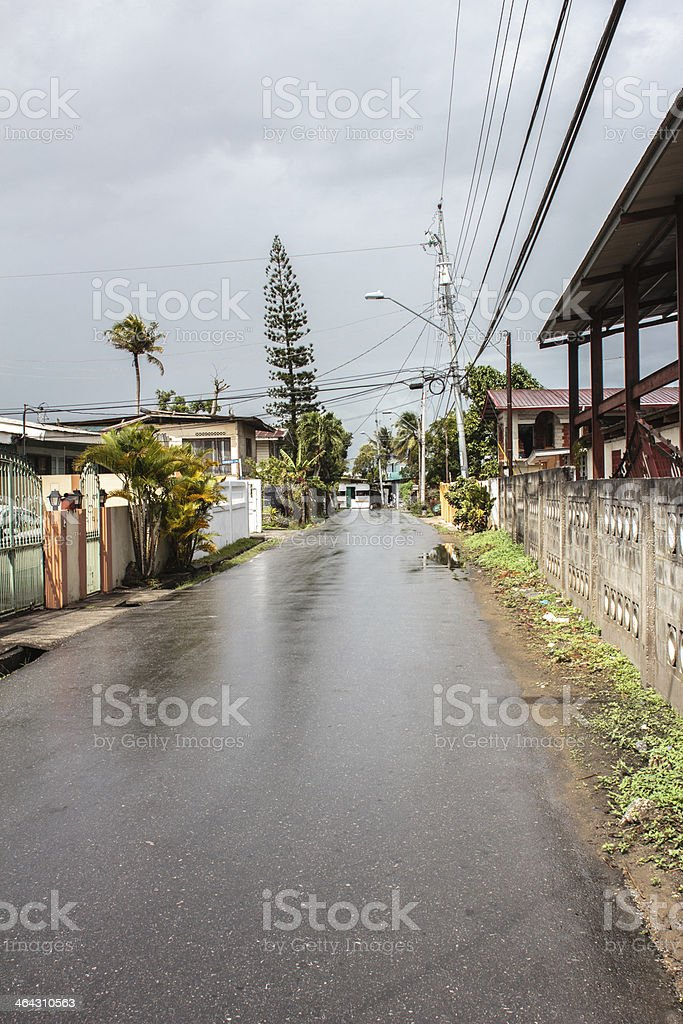 Side Street in Trinidad and Tobago royalty-free stock photo
