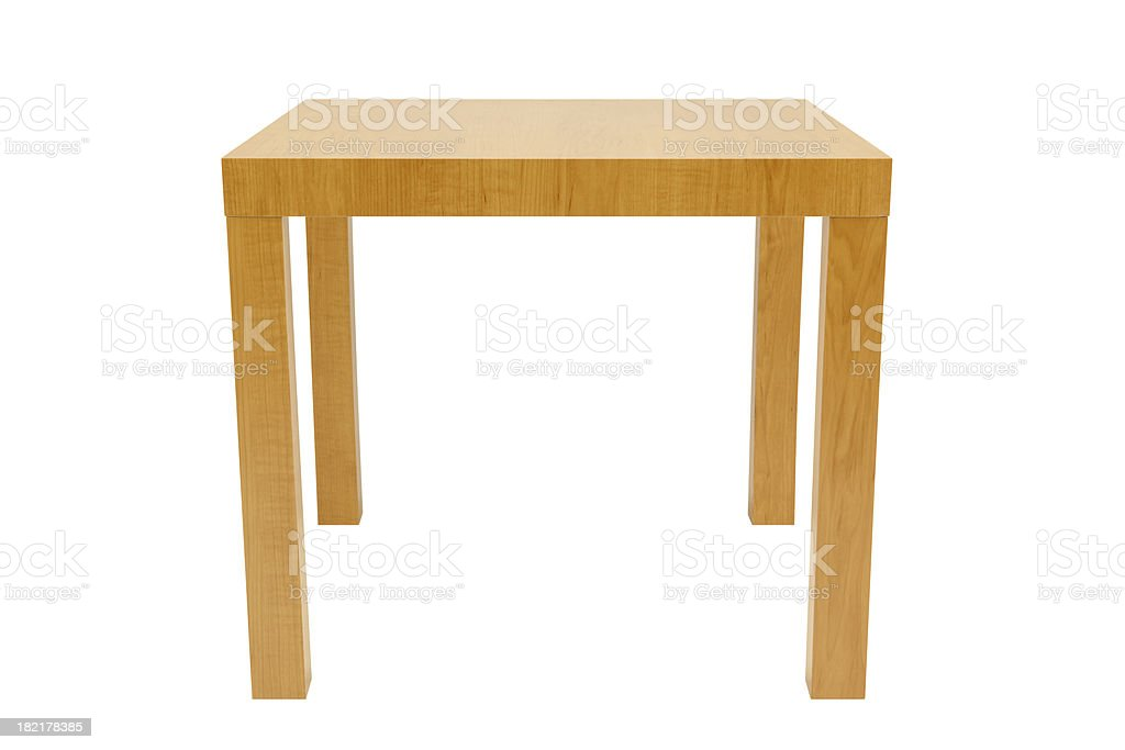 Side Table Isolated stock photo