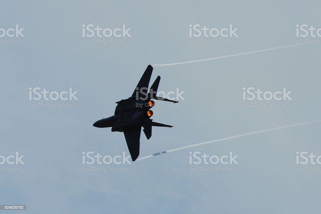 Side view airplanes stock photo
