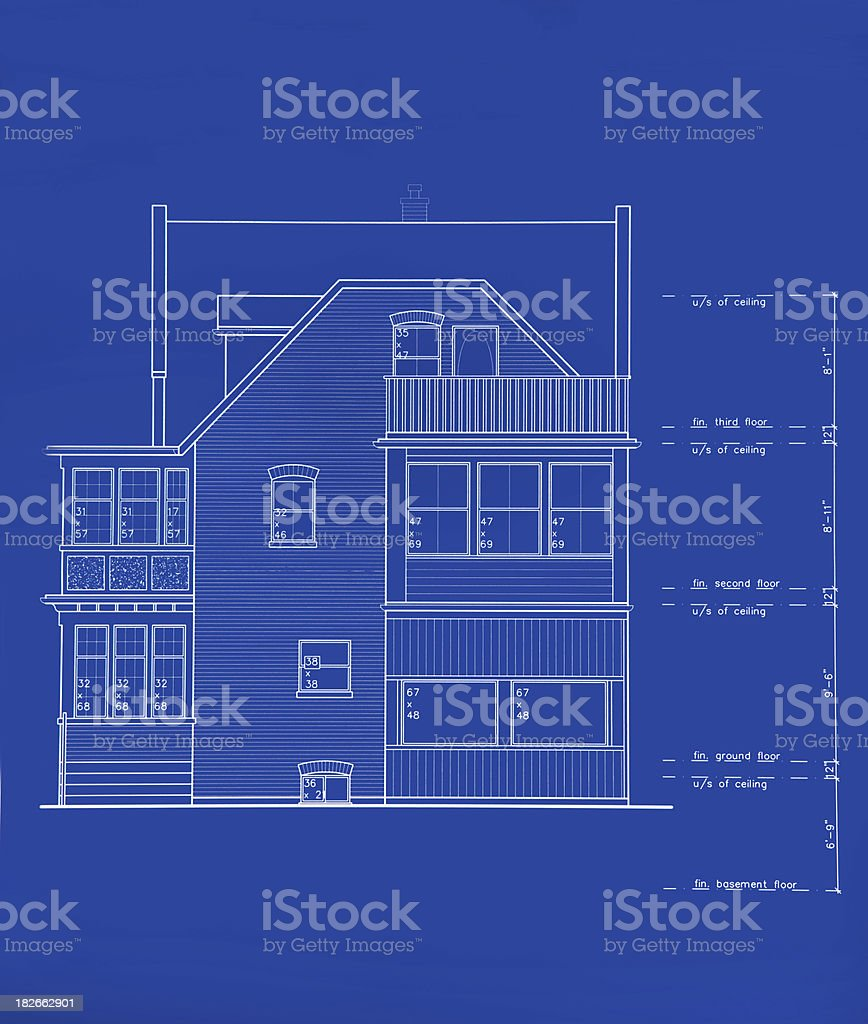 side view drawing royalty-free stock photo