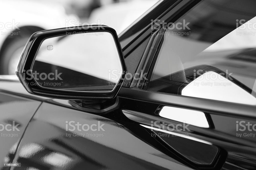 Side view mirror. stock photo