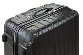 Side view of a big lightweight hard shelled suitcase