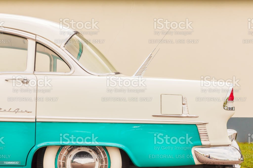 Side view of a fifties Chevrolet Bel Air car stock photo