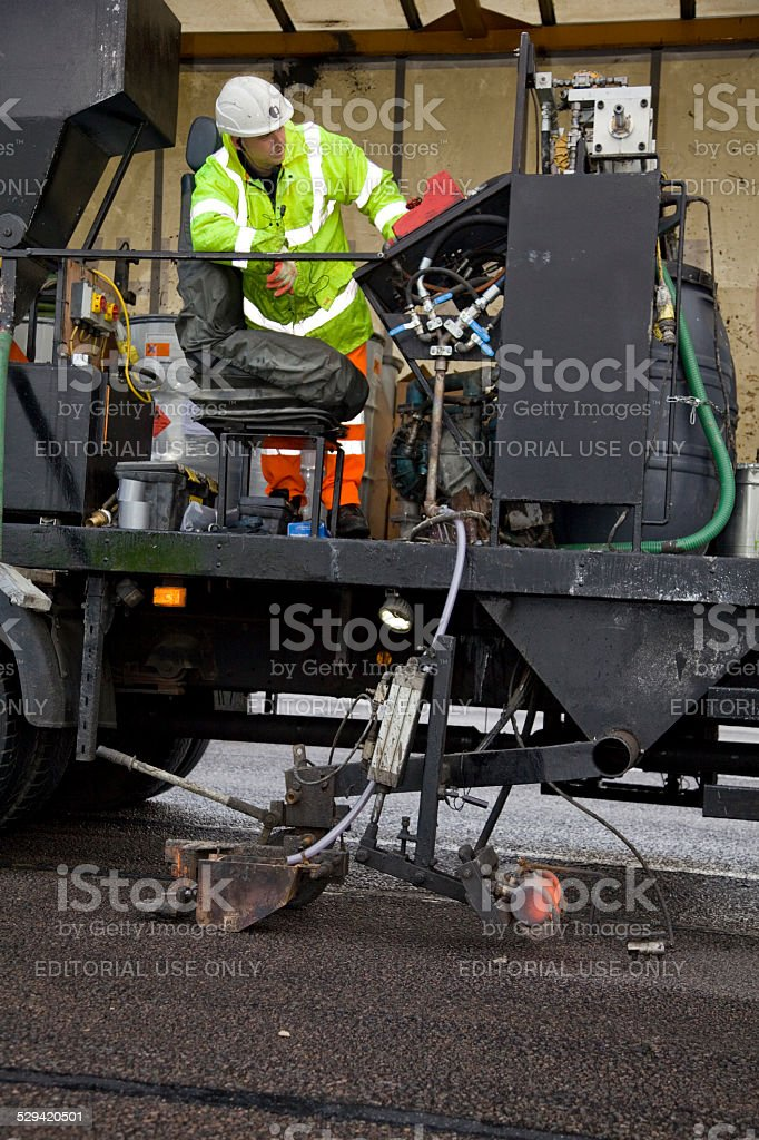 Side view of a Highway Maintenance vehicle stock photo
