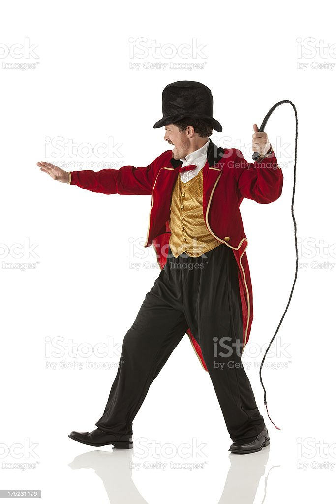 Side view of a ring master stock photo
