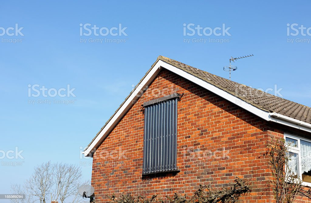 Side View Of An Eco Friendly House stock photo