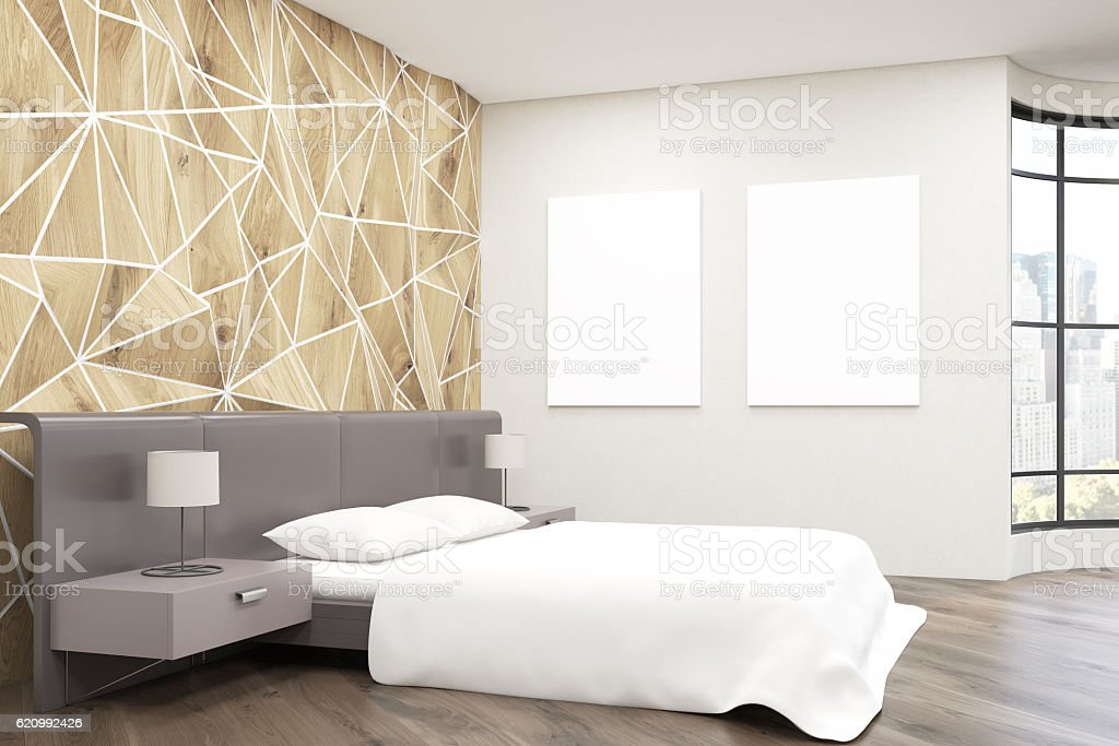 Side view of bedroom stock photo