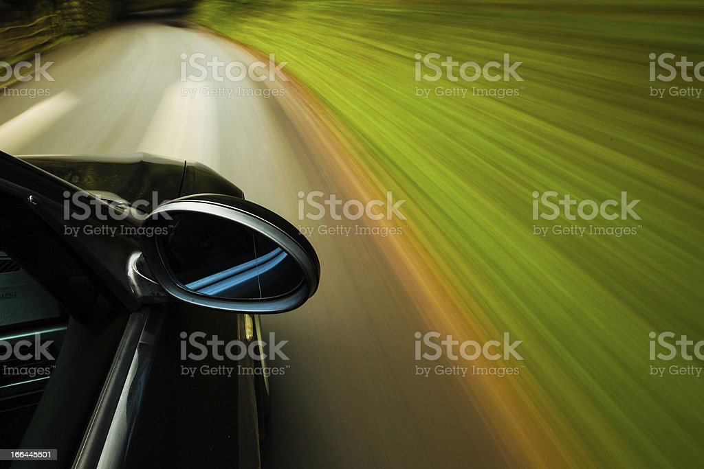 Side view of black car stock photo