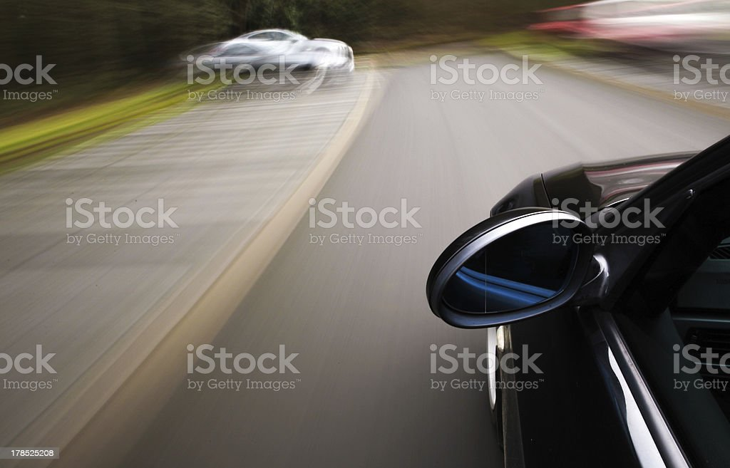 Side view of black car royalty-free stock photo