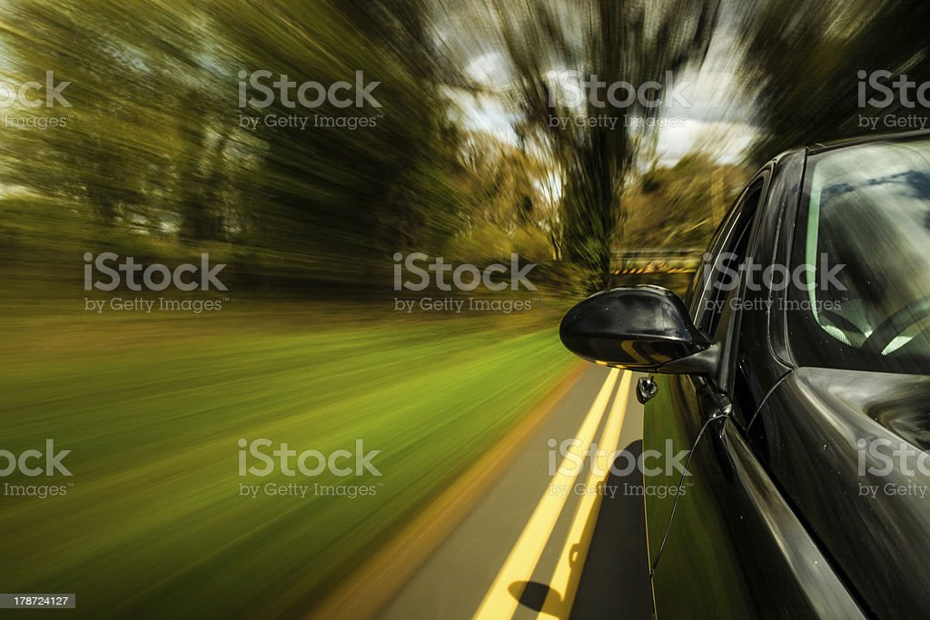 Side view of black car. royalty-free stock photo